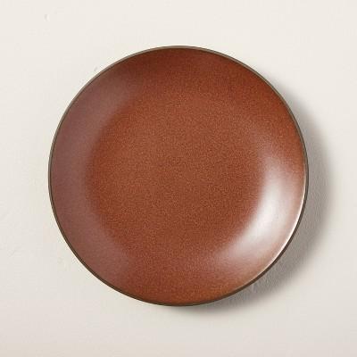 Stoneware Exposed Rim Appetizer Plate Cinnamon - Hearth & Hand™ with Magnolia