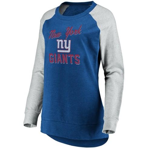 661082e2 NFL New York Giants Women's Brushed Tunic/ Gray Crew Neck Fleece Sweatshirt