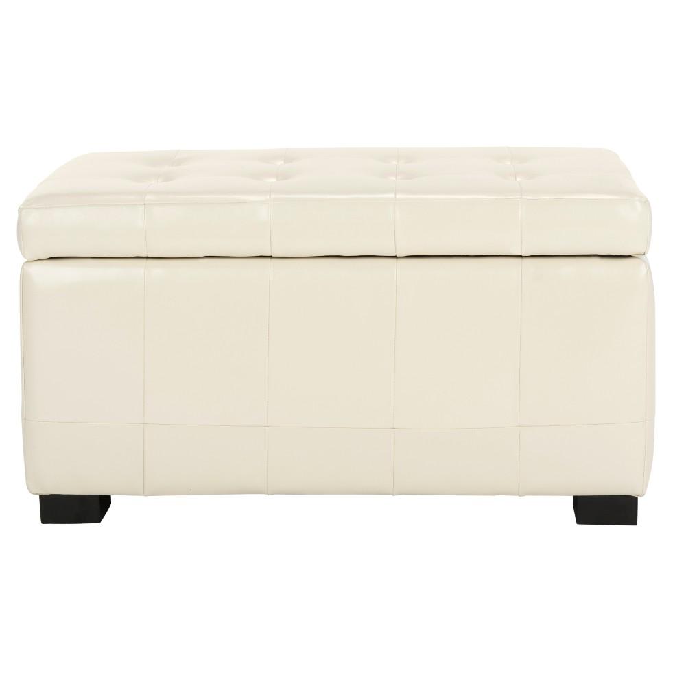 Storage Bench Offwht - Safavieh, Off White