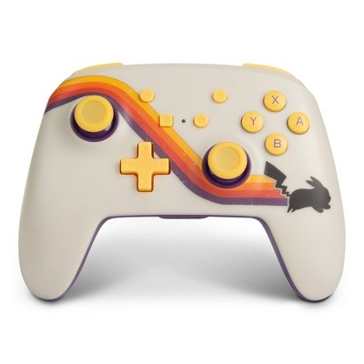PowerA Enhanced Wireless Controller for Nintendo Switch Pokemon Pikachu Retro - White