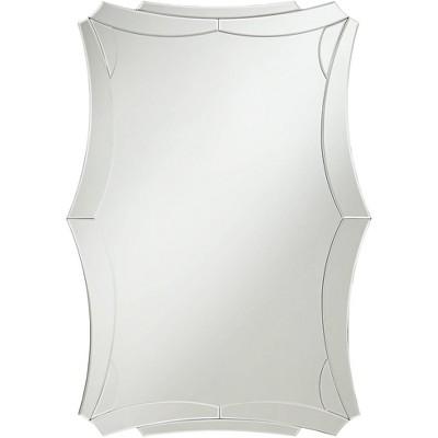 "Possini Euro Design Possini Euro Hera 28"" x 40"" Rectangular Curved Edge Wall Mirror"