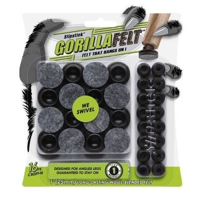 """GorillaFelt (Set of 16) 1"""" Swivel Base with Wool Blended Felt"""