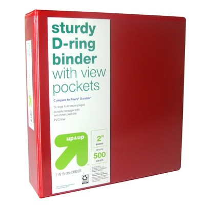 """2"""" 3 Ring Binder Clear View - up & up™"""