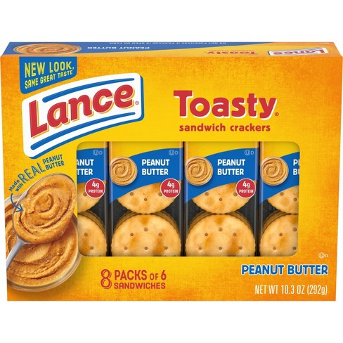 Lance Peanut Butter Toasty Cracker Sandwiches - 10.3oz/8ct - image 1 of 4