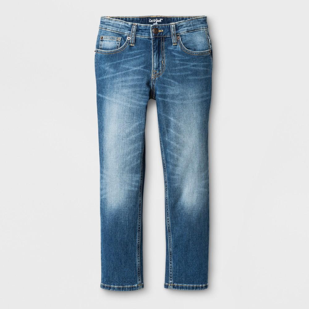 Best oversizeBoys Stretch Skinny Fit Jeans - Cat & Jack Medium Wash 10 Husky