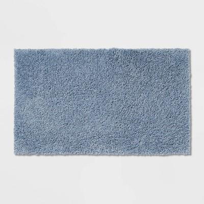 "20""x34"" Antimicrobial Bath Rug Blue - Total Fresh"