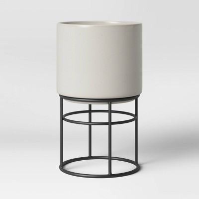 Medium Ceramic Planter on Stand Cream - Project 62™