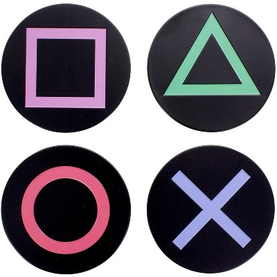 Paladone Products Ltd. PlayStation Controller Icons Metal Drink Coasters | Set of 4