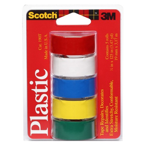 """Scotch 3/4"""" x 125"""" Colored Plastic Tape Assorted - image 1 of 3"""