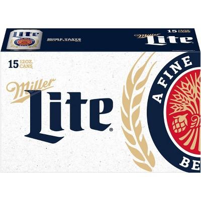 Miller Lite Beer - 15pk/12 fl oz Cans