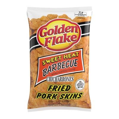 Golden Flake Sweet Heat Barbecue Chicharrones Fried Pork Skins - 3oz
