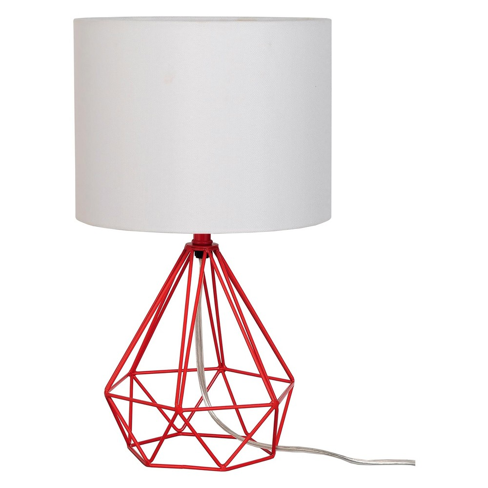 Geo Wire Lamp Red (Includes Energy Efficient Light Bulb) - Project 62