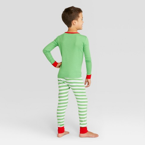 Kids  Holiday Elf Pajama Set - Wondershop™ Green 8   Target a7834dba7