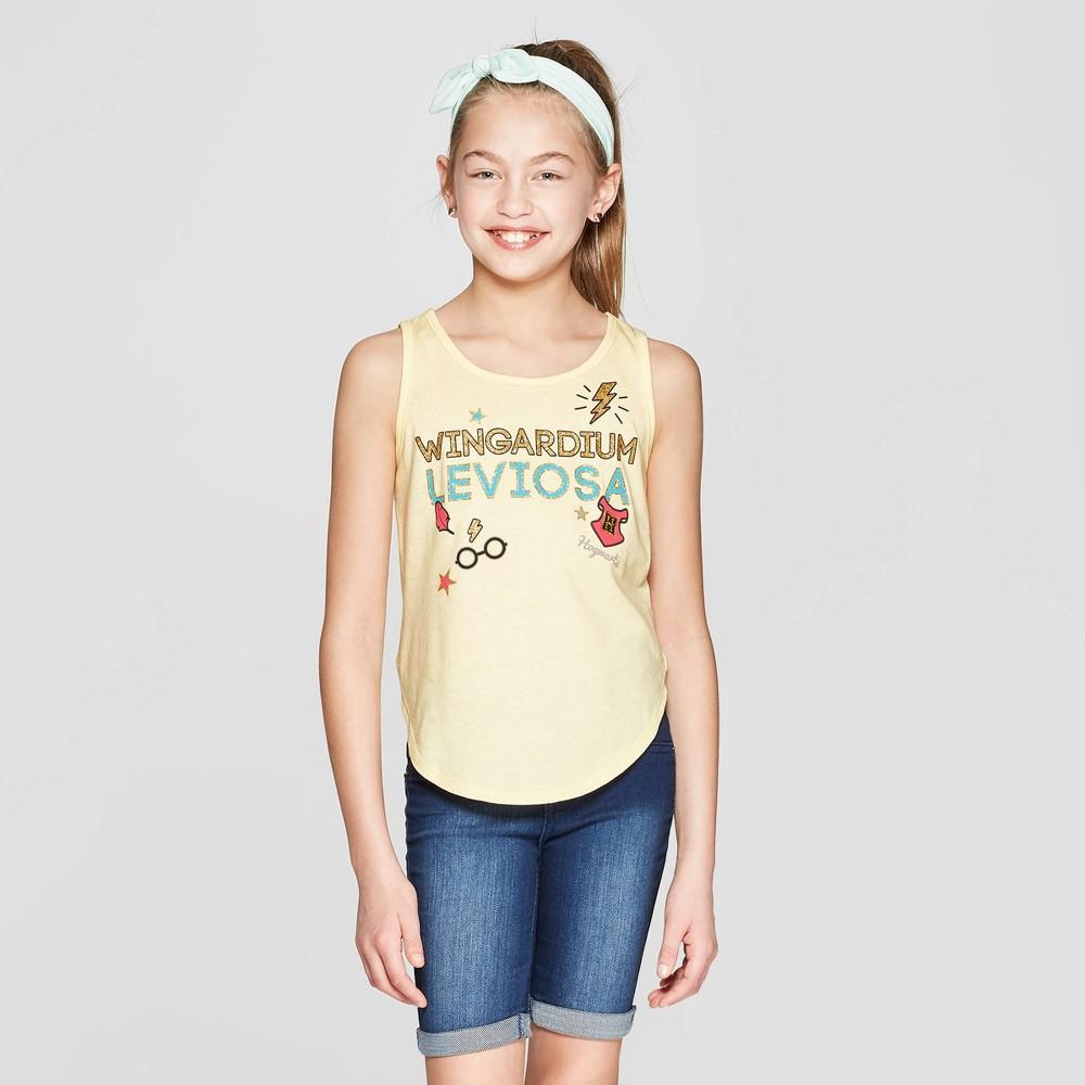 Girls' Harry Potter Wingardium Tank Top - Yellow L