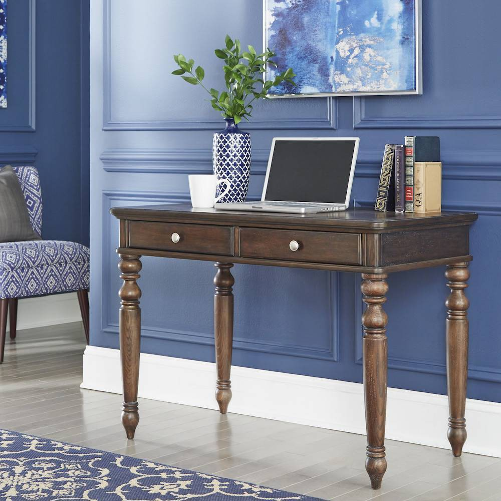 Image of Southport Writing Desk Dark Aged Oak - Home Styles, Brown