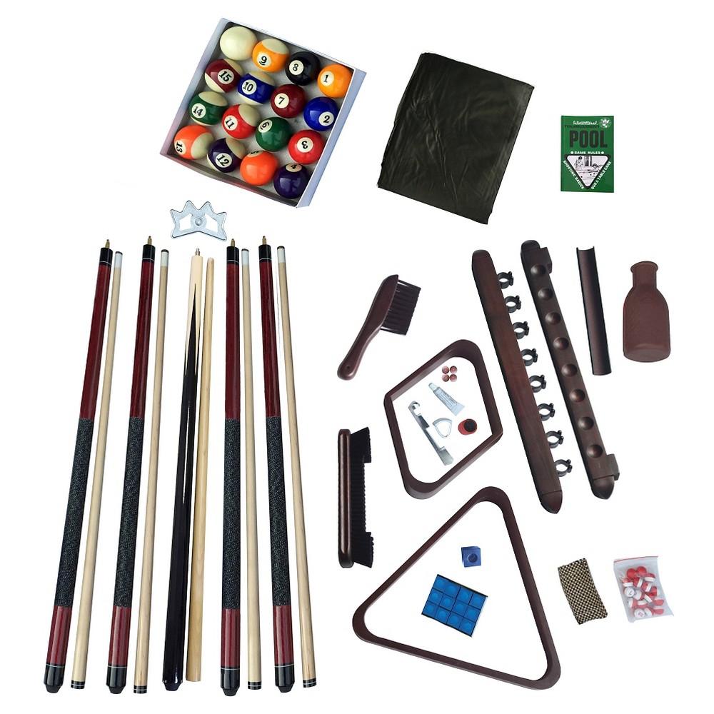 Hathaway Deluxe Billiards Accessory Kit - Mahogany (Brown) Finish
