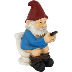 "9""H Cody the Garden Gnome with Smartphone - Sunnydaze Decor"