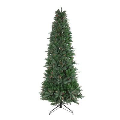 Vickerman 9.5' Pre-Lit Artificial Christmas Tree Slim Vermont Fir - Multi-Color Dura-lit Lights