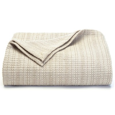 100% Cotton Woven Bed Blanket Beige - Tommy Bahama