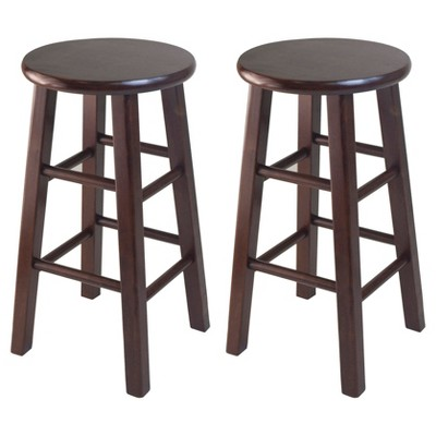 24  Pacey 2pc Bar Stool Set - Antique Walnut - Winsome