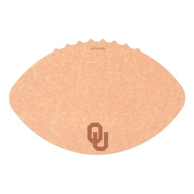 Epicurean University of Oklahoma 16 x 10.5 Inch Football Cutting and Serving Board