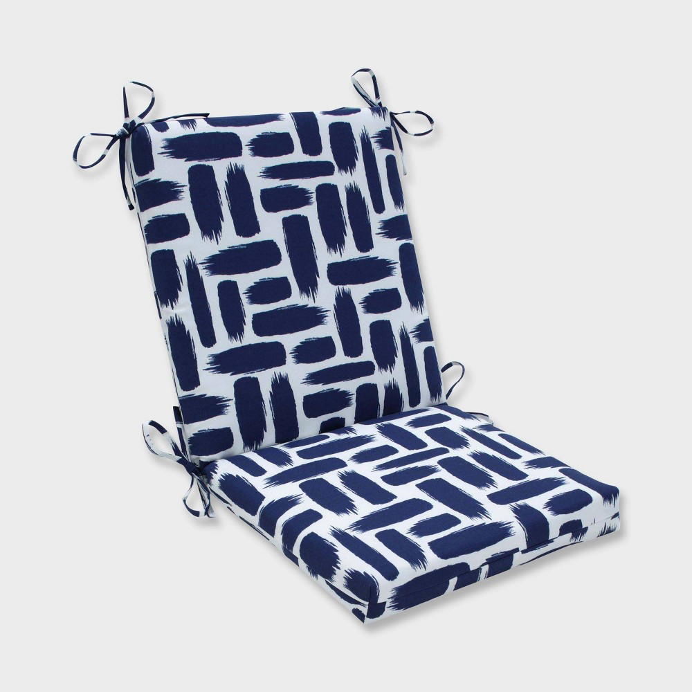 Amazing Baja Nautical Squared Corners Outdoor Chair Cushion Blue Ibusinesslaw Wood Chair Design Ideas Ibusinesslaworg