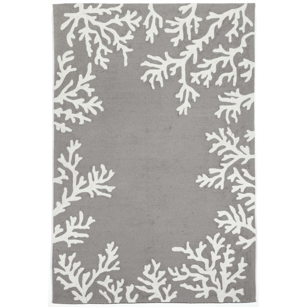 """Image of """"8'3""""""""X11'6"""""""" Coral Branch Area Rug Silver - Liora Manne"""""""