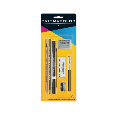 Prismacolor Premier Colored Pencil Accessory Set Eraser Blender Sharpener 7 PC