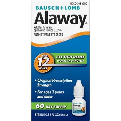 Alaway 12 Hours Allergy Itch Relief Eye Drops - 0.34 fl oz