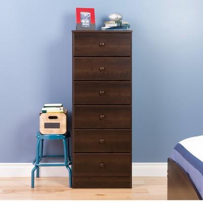 6 Drawers Astrid Vertical Dresser - Prepac