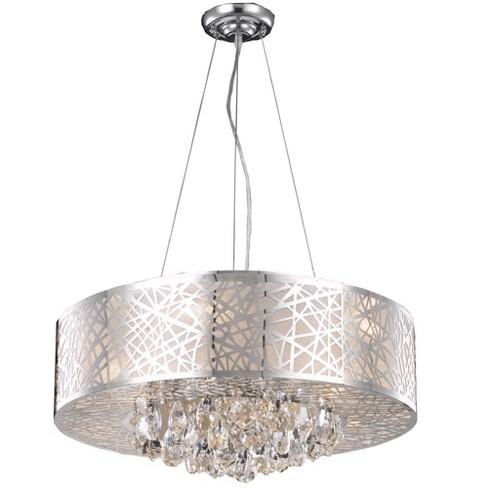 """Elegant Lighting 2079D24 Prism 24"""" Wide 9 Light Drum Style Chandelier - image 1 of 3"""