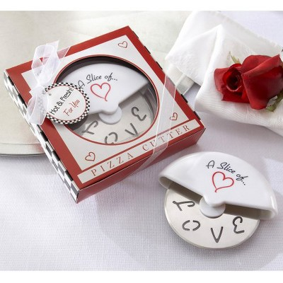 12ct Kate Aspen Slice of Love Pizza Cutter