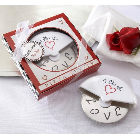 12ct Kate Aspen Slice of Love Pizza Cutter - image 1 of 1