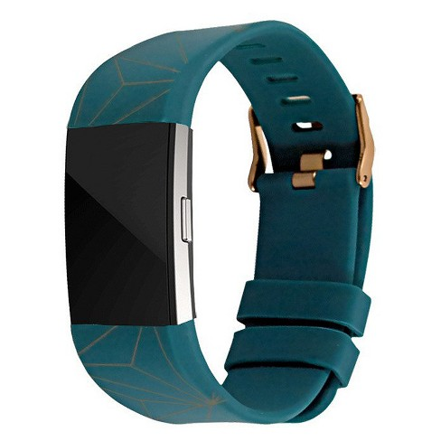 End Scene Line Geo Fitbit Charge 2 Band - Green Copper - image 1 of 4