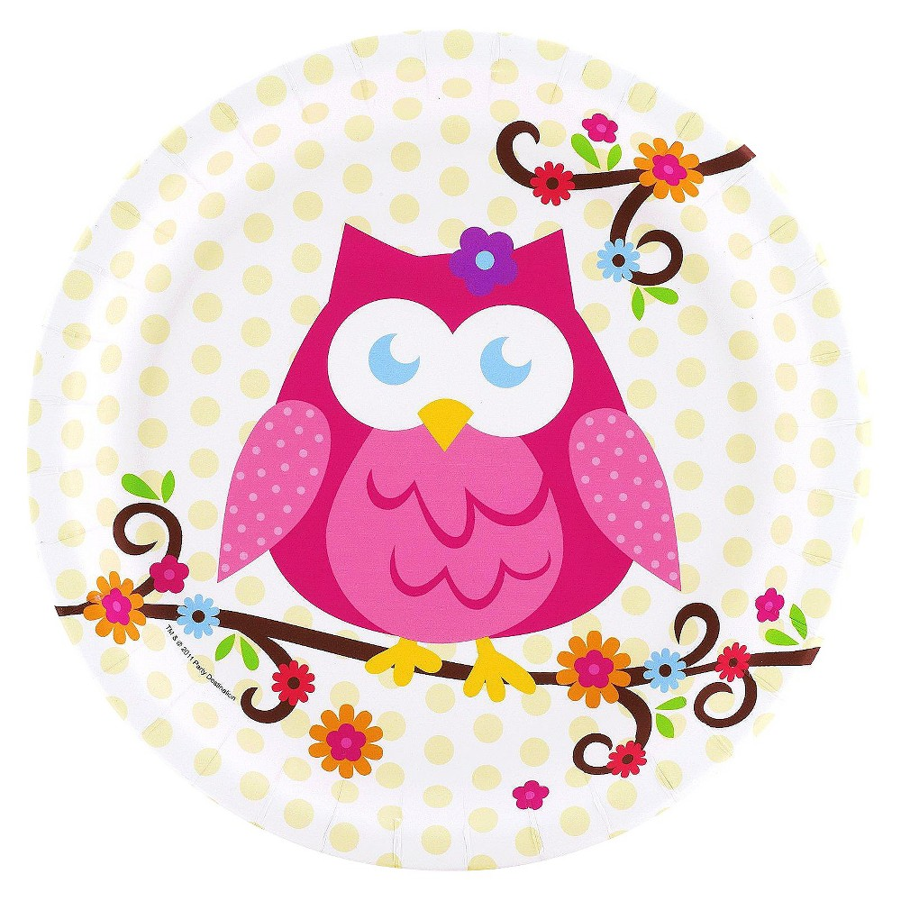 8ct Owl Blossom Dinner Plate, Multi-Colored