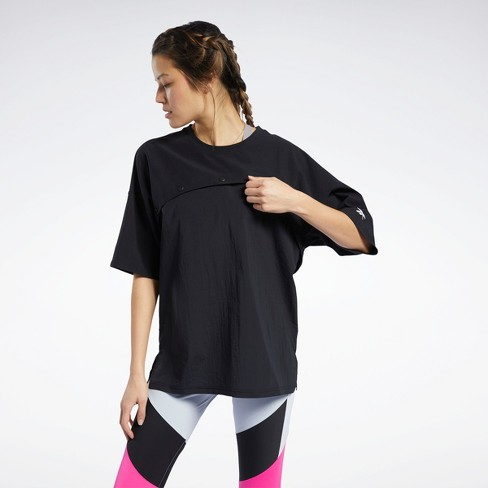 Reebok Two-in-One Tee Womens Athletic T-Shirts - image 1 of 4