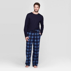 Men's Microfleece Pajama Set - Goodfellow & Co™ Blue
