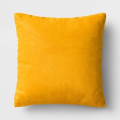 Square Velvet Pillow Yellow - Room Essentials™