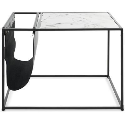 Wilson Magazine Storage End Table White - ClickDecor
