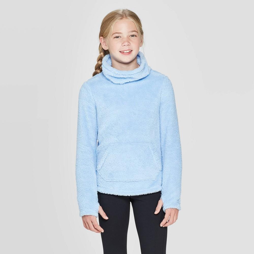 Image of Girls' Fleece Funnel Neck Pullover - C9 Champion Light Blue XL, Girl's