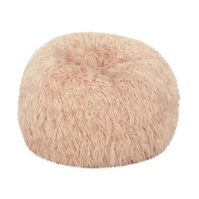 "34"" Mosier Modern Glam Faux Fur Bean Bag - Christopher Knight Home"