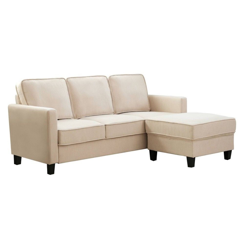 2pc Kiara Fabric Sofa & Ottoman Set Beige - Abbyson Living