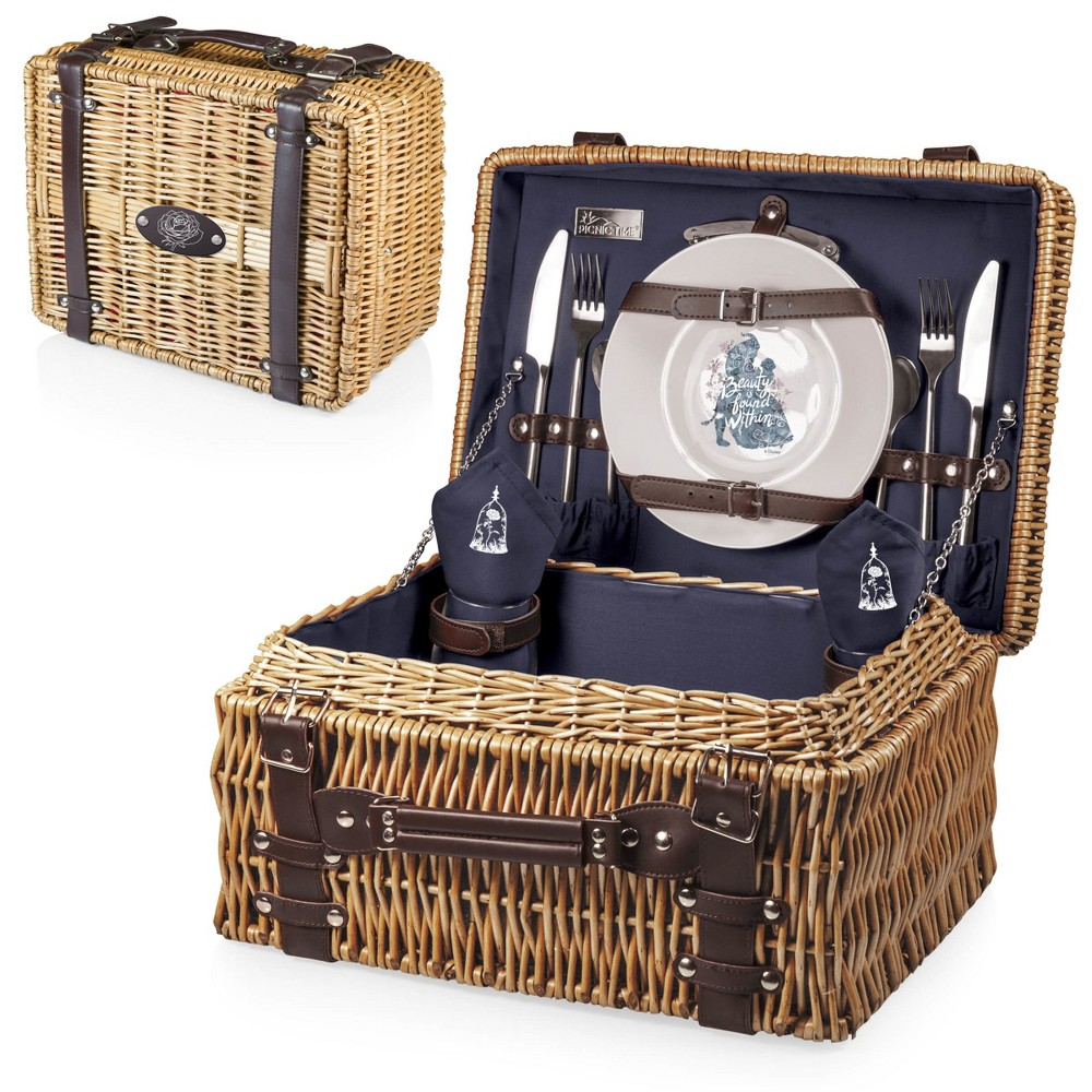 Image of Disney Beauty & the Beast Champion Picnic Basket by Picnic Time - Navy