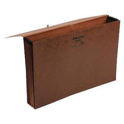 Pendaflex 5 1/4 Inch Expansion Standard File Folders Wallet, Coated Red Fiber, Legal, Red