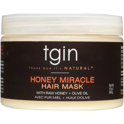 TGIN Honey Miracle Hair Mask With Raw Honey + Olive Oil Deep Conditioner - 12oz - image 1 of 4
