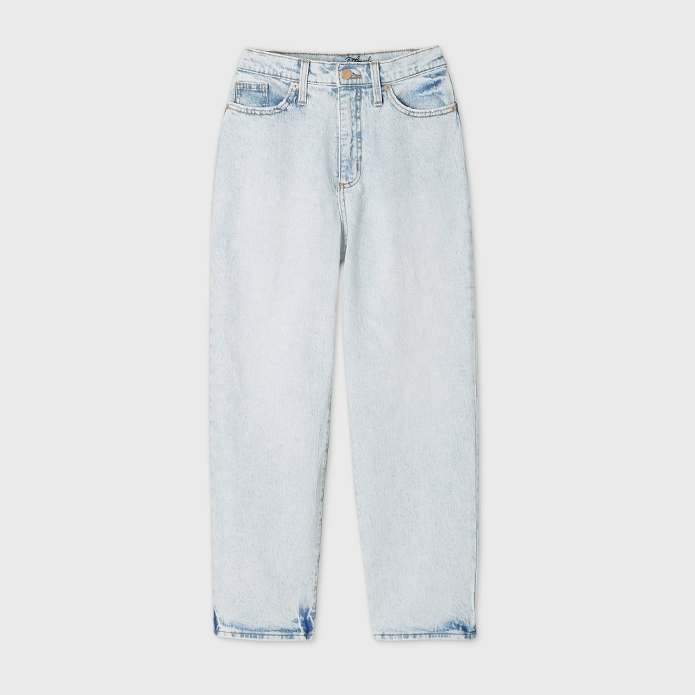 Women 39 S High Rise Vintage Straight Cropped Jeans Universal Thread 8482 Light Blue 16 Long