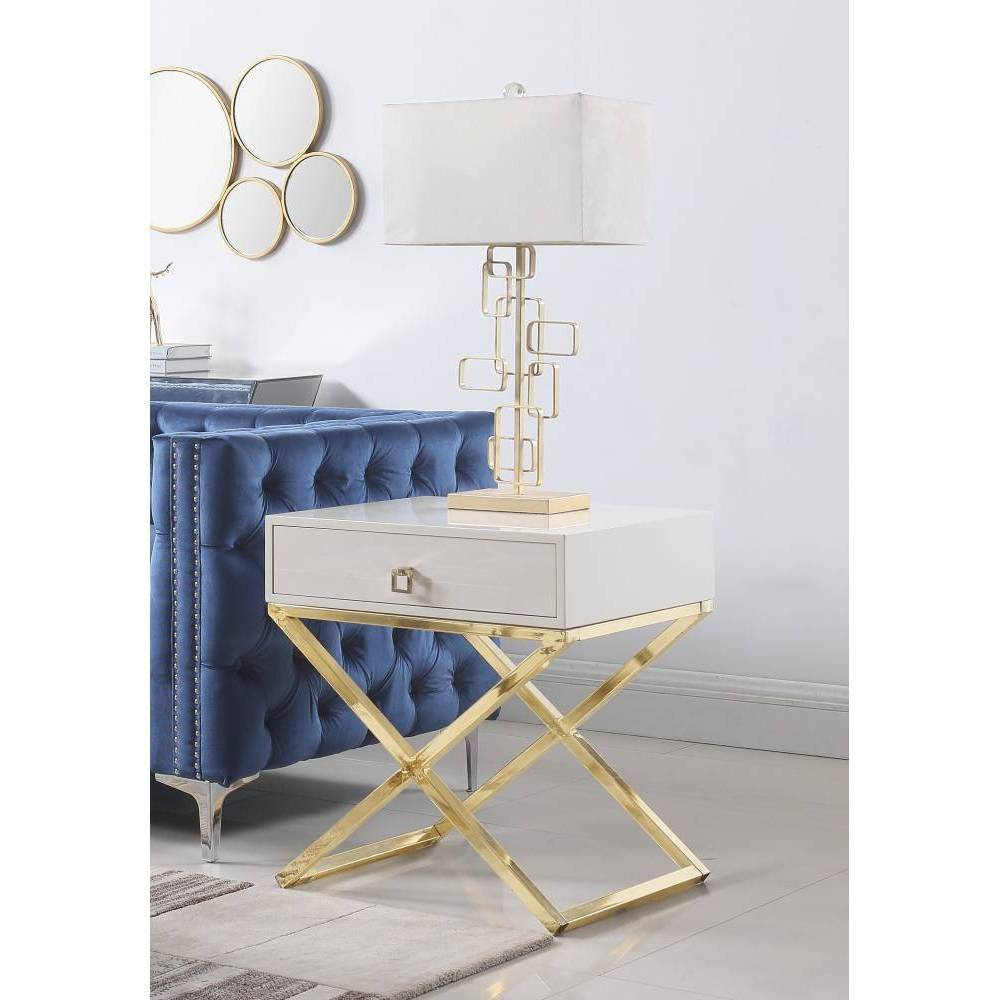 Rochester Side Table Beige - Chic Home Design was $359.99 now $251.99 (30.0% off)