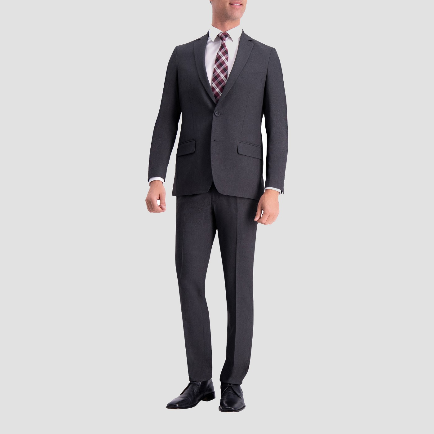 Haggar H26 Slim Fit Premium Stretch Suit Jacket - Charcoal Heather - image 1 of 2