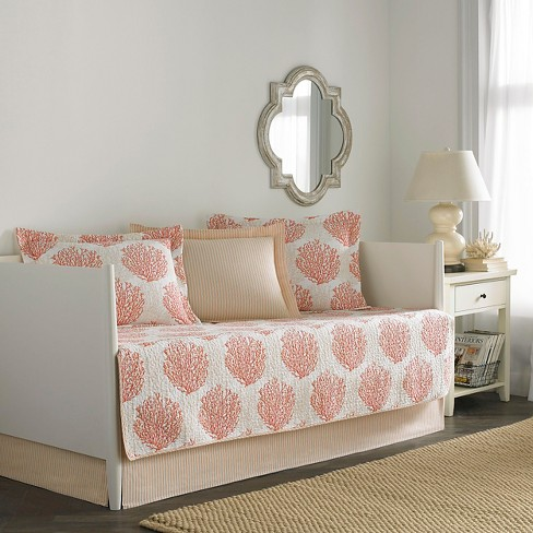Laura Ashley Coral Coast 5 Piece Daybed Set - Coral (Daybed) - image 1 of 1