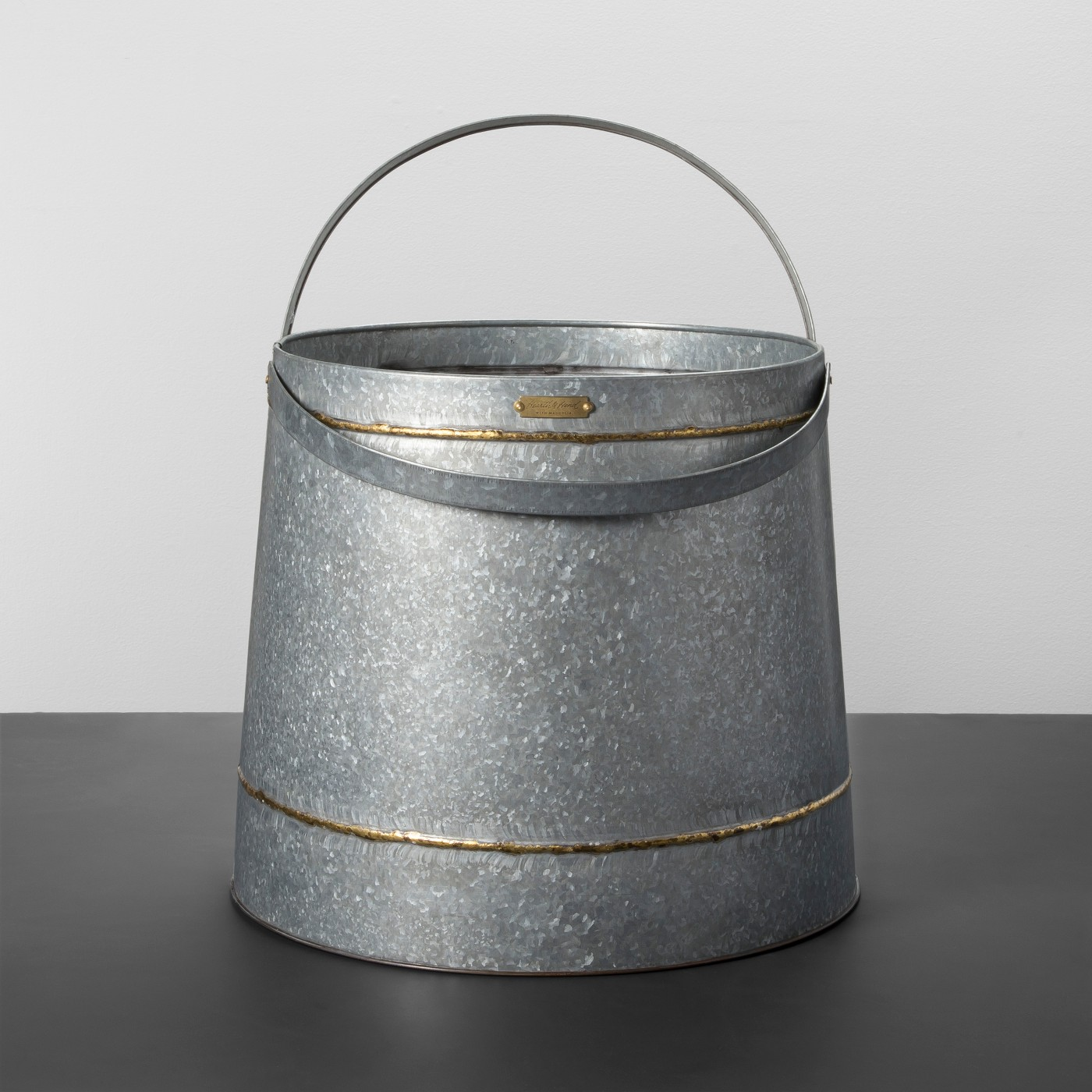 Round Galvanized Storage Bin - Hearth & Hand™ with Magnolia - image 1 of 3